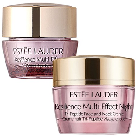Estee Lauder แพ็คคู่สุดคุ้ม Resilience Multi-Effect Night Tri-Peptide Face and Neck Creme 15 ml. + Resilience Multi-Effect Tri-Peptide Eye Creme 5 ml.